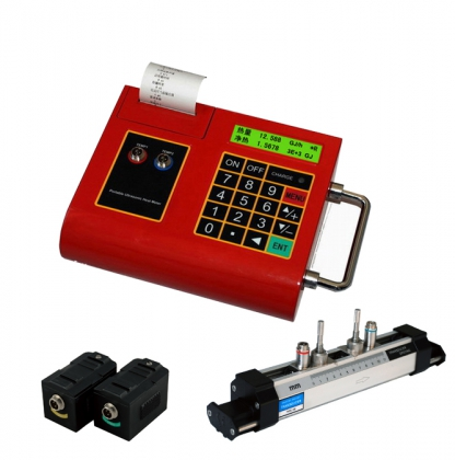 Portable ultrasonic fheat meter